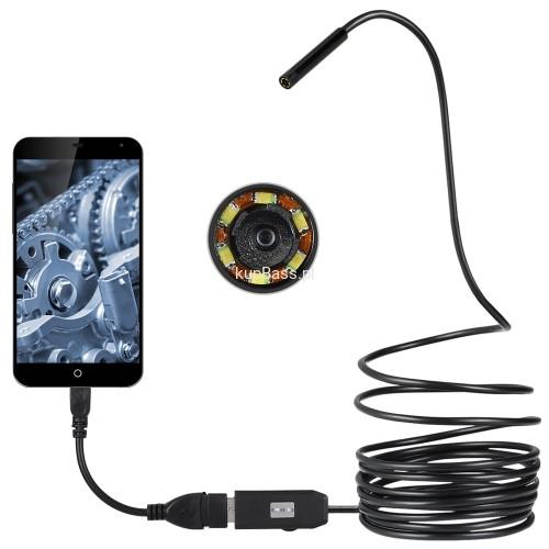 Inteligentny ENDOSKOP MINI KAMERA USB 5,5mm app ANDROID KupBass.pl FT11